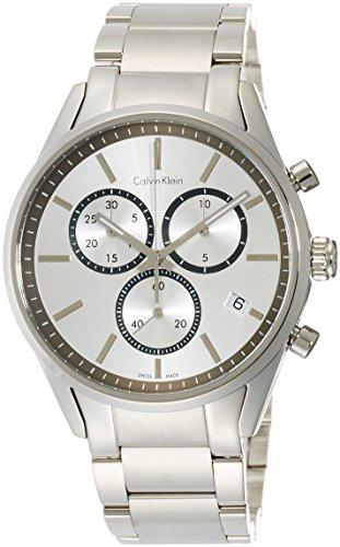 Calvin Klein Reloj Cronógrafo para Hombre de Cuarzo con Correa en Acero Inoxidable K4M27146