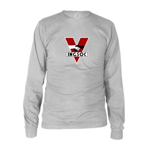 INGSOC - Herren Langarm T-Shirt, Größe: XXL, Farbe: ()