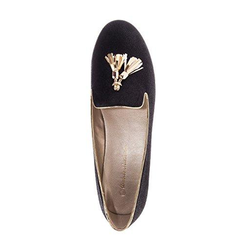 Andres Machado. AM5143.Chaussures Plates en suèdine. Grandes Pointures 42/45. Noir