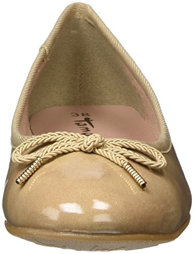 Tamaris 22123 - Ballerines - Femme Beige (Nude Patent)