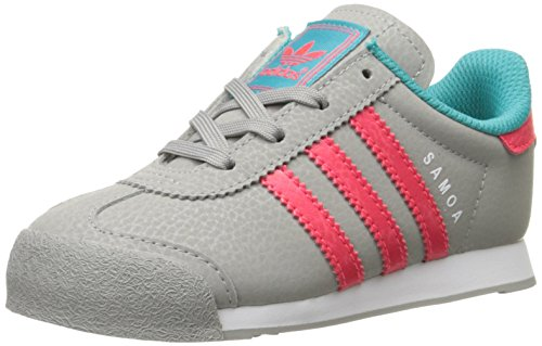 adidas Originals Samoa I Fashion Sneaker (Infant/Toddler),Solid Grey/Shock Red/Shock Green,9.5 M US Toddler
