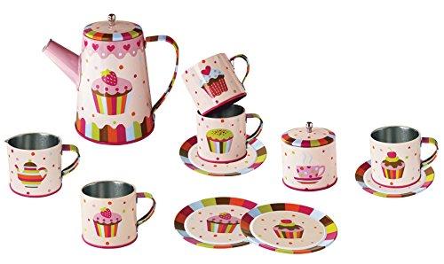 Magni–Kaffeeservice aus Zinn Cupcake 13PCS., 2393