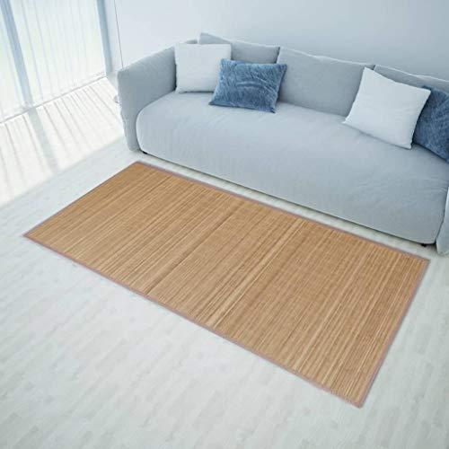 guyifuzhuangs Dekoration Teppiche Rechteckig Brauner Bambusteppich 200 x 300 cm