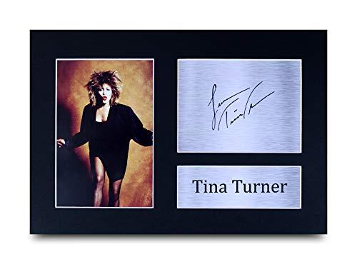 HWC Trading Tina Turner Geschenke Unterzeichneten A4 Gedrucktes Autogramm Music Foto-Anzeige - Bild Karten Weihnachten