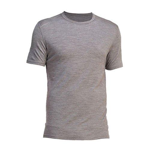Icebreaker Merino T-Shirt Oasis kurzarm Crewe grau Grau