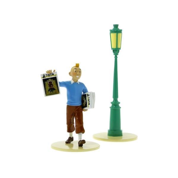 "Figura Pixi / Moulinsart: Tintín y la farola ""Lisez Tintin"" 46300 (2016) 1"