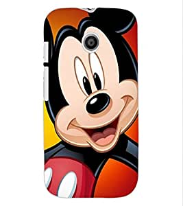 ColourCraft Cartoon Design Back Case Cover for MOTOROLA MOTO E