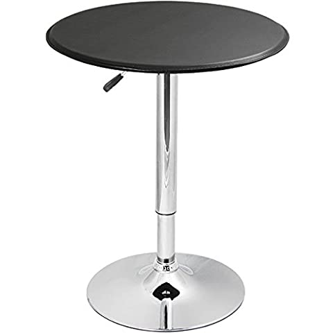 Black Faux Leather Table - Bistro Table, Pedestal Table, Kitchen Table, Bar Table, Coffee Table
