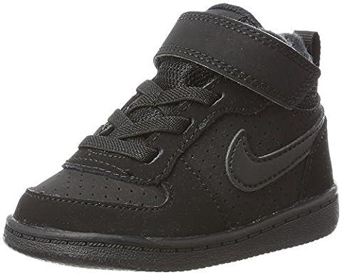 Nike Court Borough Mid (Td), Sneakers Basses Bébé Garçon, Noir (Black/Black), 27 EU