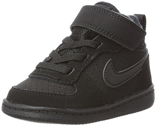 Nike Unisex Baby Court Borough Mid (TD) Hausschuhe, Schwarz Black 001, 22 EU - Jordan Jungen Schuhe Kleinkind