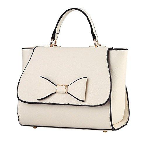 Koson-Man-Borsa Vintage da donna, borsetta per impugnatura, bianco (Bianco) - KMUKHB342
