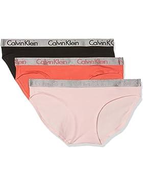 Calvin Klein 000QD3561E, Bragas Para Mujer, Pack de 3