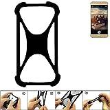 K-S-Trade Handyhülle für Allview X3 Soul Plus Schutz Hülle Silikon Bumper Cover Case Silikoncase TPU Softcase Schutzhülle Smartphone Stoßschutz, schwarz (1x)