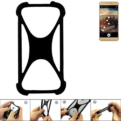 K-S-Trade Bumper Allview X3 Soul Plus Silikon Schutz Hülle Handyhülle Silikoncase Softcase Cover Case Stoßschutz, schwarz (1x)