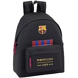 Safta FC Barcelona Oficial Mochila juvenil Day Pack Liso 330x150x420mm, Negro