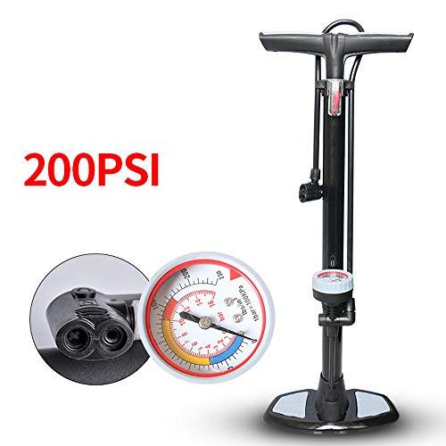 JLSYYCC Fahrrad-Hochdruckbodenpumpe Für Alle Ventile, Fahrrad-Pumpen-Rennrad, Fahrrad-Luftpumpe Mit Manometer, Mit Ball-Nadel