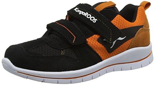 KangaROOS - Kj-30, Scarpe da ginnastica Bambino Nero (Schwarz (black/dk orange 575))