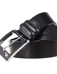 AQAQ Unisex Piel De Ternero Cinturón De Cintura Fiesta / Trabajo / Casual Todas Las Temporadas , Black , 125Cm