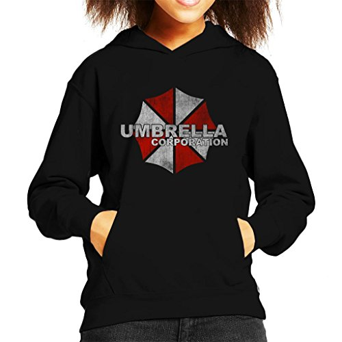 Cloud City 7 Resident Evil Umbrella Corp Logo Kid's Hooded Sweatshirt