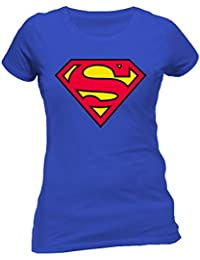 DC Women's Superman Logo Crew Neck Short Sleeve T-Shirt