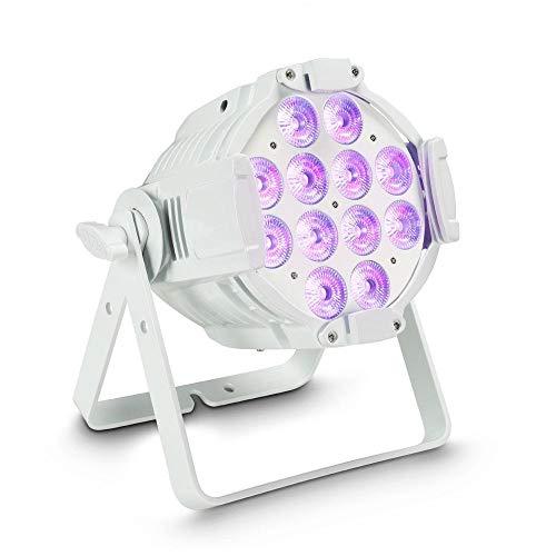 Cameo Studio PAR 64 CAN RGBWA+UV 12 W WH 12 x 12W QUAD Colour LED RGBWA+UV PAR Scheinwerfer in weißem Gehäuse Quad Uv-led