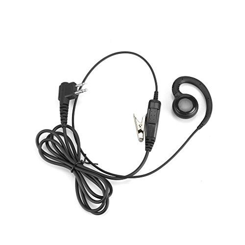 Zerama 2 Pin-Schwenker-Hörmuschel für Motorola Radi Ohrhänger Ohrbügel-Kopfhörer-Kopfhörer PTT und Mic CLS1410 CP200 CP88 CP100 CP040 Cp100-radio