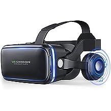 【Nouveau 】VR Lunettes,3d VR Réalité ,VR Casque Virtuelle Lunettes casque avec arceau monté sur la tête pour 4.0 à 6.0 pouces Samsung Mega 2 / Galaxy Note 3 / 4 / Galaxy S6 Bord / iPhone 7 /6/5 iPhone 7 Plus / LG G3 / SONY Experia T2 Ultra / Xperia Z3 + / ASUS Zenfone 2/MOTO Nexus 6 / HTC One Max / Desire 816 / Un M9/Moto et autres smartphones