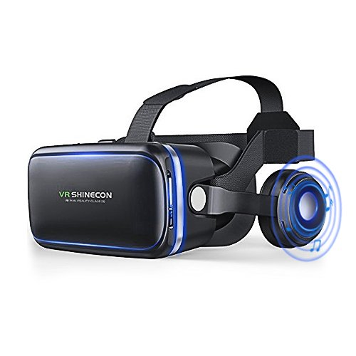 VR Brille für 3D Filme und Spiele, Brille Video Movie Game Brille 3D vr Kompatibel mit 4.7 ~ 6 Zoll Smartphones (Schwarz)