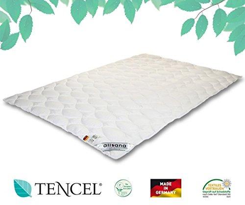 allsana TENCEL® Klimafaser Leichtsteppbett 200x220 cm, Lyocell Sommerdecke für Allergiker, waschbar bei 60°C, Tencel Bettdecke bei Allergie