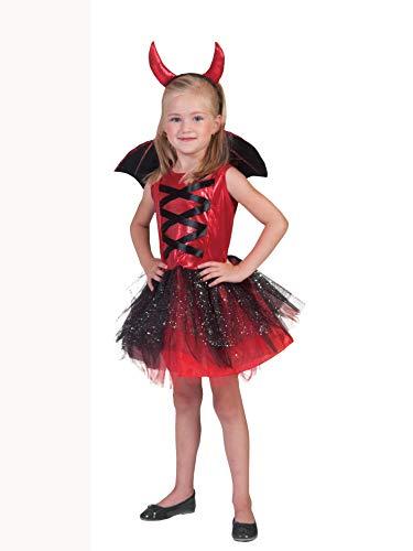 Generique - Teufel-Kostüm mit Tüll für Mädchen 128/140 (8-10 ()