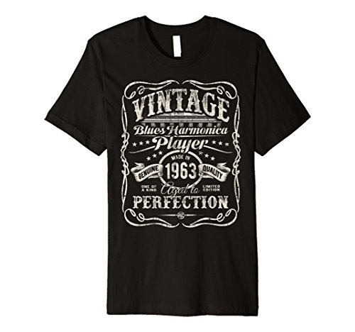 Vintage Blues Harmonica player Made in 1963 T-Shirt