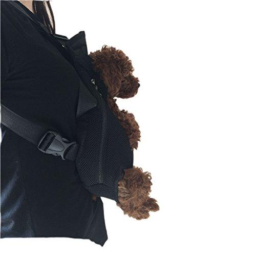 Imagen de wiiguda@mascotas  frontal, bolso para perros y gatos, manos libres, salen las patas de mascotas de tamano l 3,5~6,5kg  alternativa