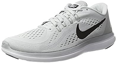 Nike Flex 2017 RN, Scarpe Sportive Indoor Uomo, Multicolore (Pure Platinum/Black-Wolf Grey-Cool Grey), 41 EU