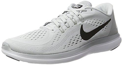 Nike Herren Flex 2017 RN RUN Laufschuhe, Mehrfarbig (Pure Platinum/Black-Wolf Grey-Cool Grey), 45 EU (Run Schuhe Free Herren Nike)