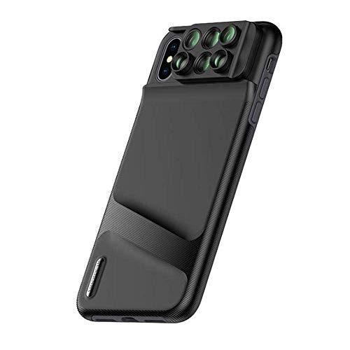 LIGHTOP Switch Mobile Phone Case Durable Phone Case 6 in 1 Dual Optics Lens System Double Layer Protection 6 Lens Kit Apple iPhone XR/XS/XS Build-in Grip (for iPhone XS Max) Xs Compact Camera Case