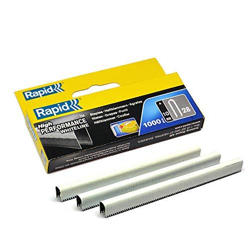 1000 x 28 Rapid Series grapas cables R28 WHITELINE