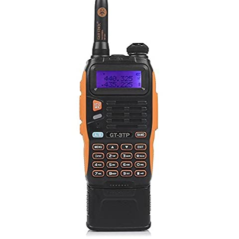 Baofeng Pofung GT-3TP Mark-III Tri-Power 8/4/1W Two-Way Radio Transceiver, Dual Band 136-174/400-520 MHz True 8W High Power Two-Way Radio, 3800mAh High Capacity Battery,with 23CM High Gain Antenna, Upgraded Chip