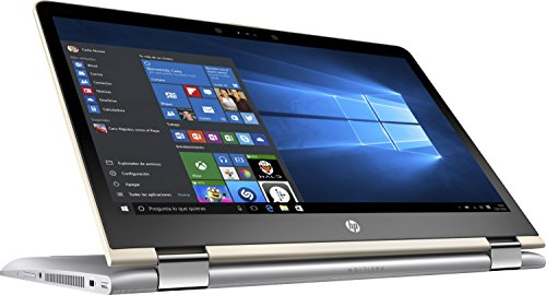 HP Pavilion x360 14-ba004ns - Ordenador Portátil 14' FullHD (Intel Core i7-7500U, 8 GB RAM, 1 TB HDD, Intel Graphics, Windows 10), Plateado - Teclado QWERTY Español