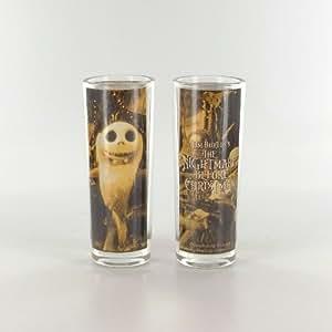 Set de 2 minis verres Tim Burton Nightmare Before Christmas 10 cm 65 ml