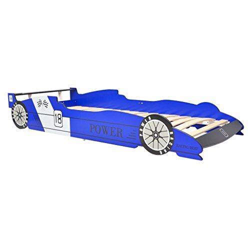 vidaXL Kinderbett Autobett Jugendbett Spielbett ohne Matratze 90x200 cm Blau