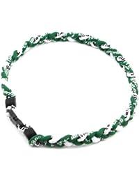 HuaYang sports 3 corde tressée colliers de titane tornade de sport de baseball(Vert/Vert/Blanc)