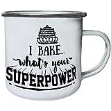 Yo Cocino - Superpotencia Retro, lata, taza del esmalte 10oz/280ml k658e