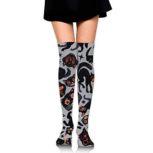 Jxrodekz Halloween Cats Upgraded Knee High Graduated Compression Socks Women Men - Best Medical,Nursing,Travel & Flight Socks - Running & Fitness.