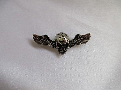 Artículo eird al día siguiente Envío.Button Wings alas Calavera Harley Davidson Pin 6x 2cm Parte Trasera con 2tornillos