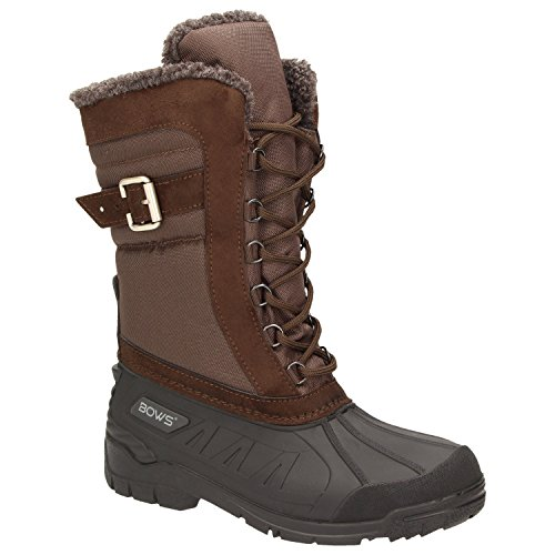 BOWS® -SUSI- Winterstiefel Damen Schnee Stiefel Snow Schuhe Winterboots warm gefüttert wasserdicht wasserabweisend, Schuhgröße:40, ()