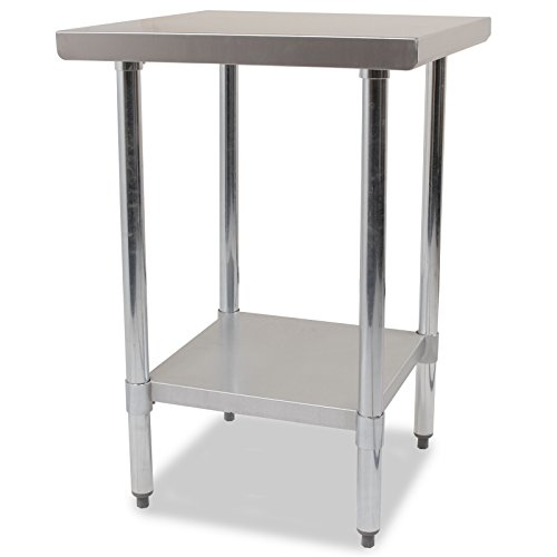 24 x 24 Inch Stainless Steel Metal Commercial Industrial Kitchen Food Prep Bench Work Table Test