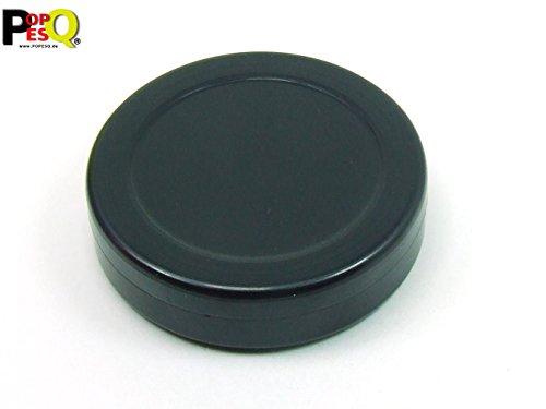 POPESQ® - 1 Stk. x Gehäuse 70x18mm Rund Schwarz Kunststoff / 1 pcs. x Enclosure 70x18mm Round Black Plastic #A1716