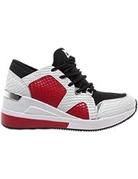 8371d743cd0 Zapatos Mujer Sneaker MICHAEL KORS Liv Trainer 43R9LVFS1E Rojo Blanco Negro