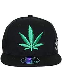 Adult Weed Marijuana Pot Leaf Ganja Snapback Baseball Cap