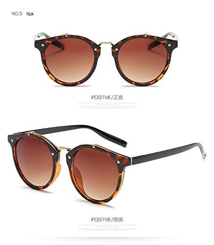 Daawqee Prämie Sonnenbrillen,Brillen,Luxury Round Sunglasses Women Brand Designer Cat Eye Retro Rimless Sunglass Mirror Sun Glasses Female NEW Zonnebril Dames 4